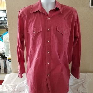 ELY CATTLEMAN  Pearl Snap Western Collared shirt